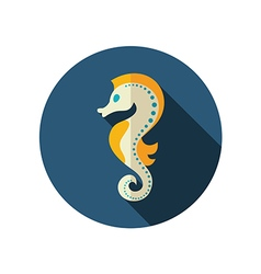 Sea Horse flat icon Summer Vacation vector image