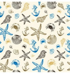 Seashells Pattern Background vector