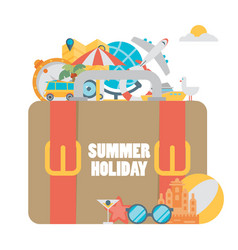 set concepts and banners travel summer in vector image