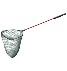 Single fishing net on white vector image