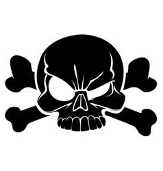skull and bones sign danger vector image