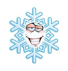 Snowflake emoticon smug vector