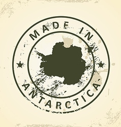 Stamp with map of antartica vector