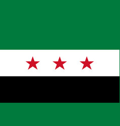 syria opposition flag vector image