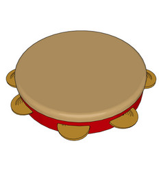Tambourine a musical instrument or color vector