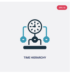 two color time hierarchy icon from productivity vector image