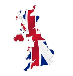 United kingdom map filled with great britain color vector