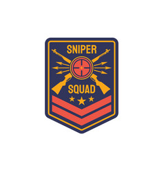 us military chevron special sniper squad icon vector image