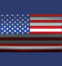 Usa flag metallic wavy texture abstract background vector