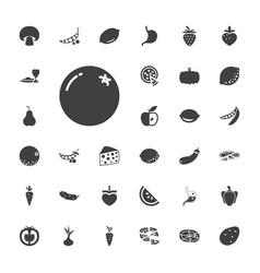 Vegetarian icons vector