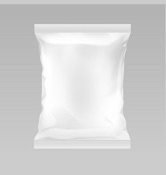 white vertical sealed empty plastic foil vector image