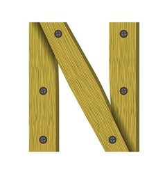 wood letter N vector image