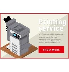 Copier printer isometric flat 3d vector