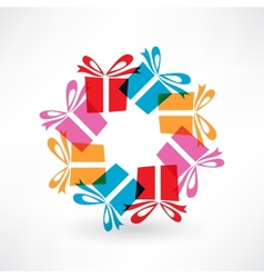 Gifts in circle vector image