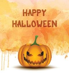 Halloween pumpkin on watercolor background vector image vector image
