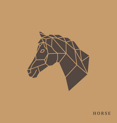 horse head geometric lines silhouette vector image vector image