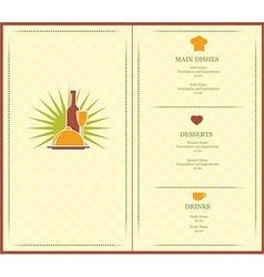 menu brochure vector image