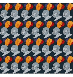 seamless medieval pattern number two vector image