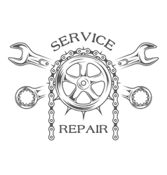 Service maintenance and repair vector image vector image