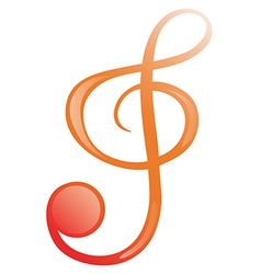 A G-clef vector image vector image