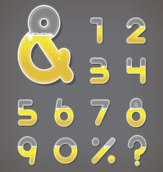 Beer numbers set and ampersand letter vector image