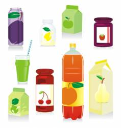 fruit containers vector image vector image