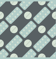 seamless pattern with pills and capsules vector image