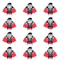 Set of Vampires vector image