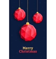 Christmas balls ornaments triangle red vector image vector image