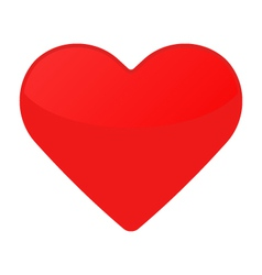 Isolated red heart on a white vector image vector image