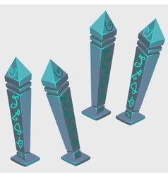 Magical artifacts with runes cartoon image vector image
