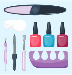manicure foot and hand care fingers instruments vector image vector image