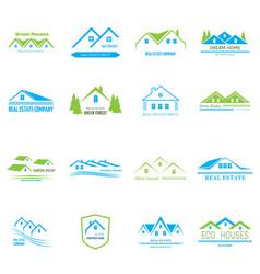 real estate logo design vector image vector image
