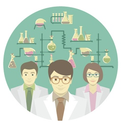 Scientists in the Chemical Laboratory vector image vector image
