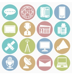 white icons communication vector image vector image