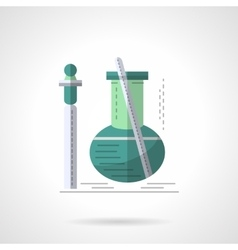 Biochemistry research flat color icon vector image vector image