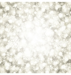 Christmas snowflakes and light background vector image vector image