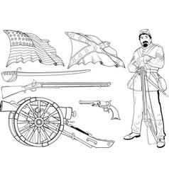 cyvil war set vector image vector image