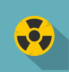 Nuclear sign icon flat style vector