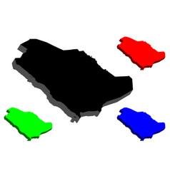 3d map of saudi arabia vector
