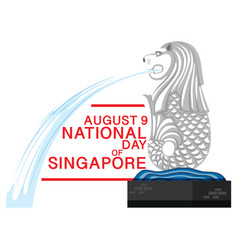 August 9th national day singapore banner vector