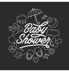 bashower invitation chalkboard template hand vector image