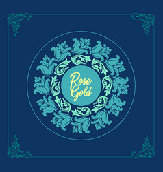 beautiful floral monogram design logo vector image