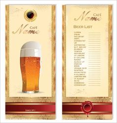Beer card template vector