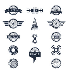 Bike badge set vector