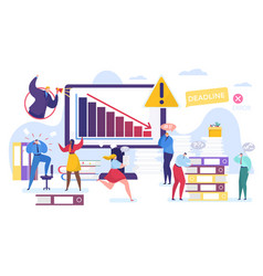 Business problem cartoon tiny vector