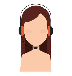 call center agent shirtless avatar character vector image