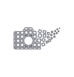Camera photography logo icon template digital vector