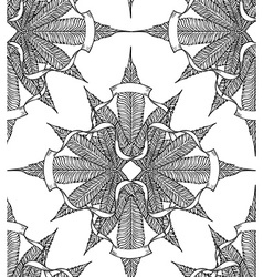 Cannabis pattern8 vector image