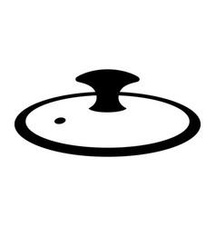 Cap of cooking pot or pan vector